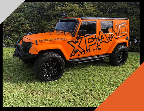 xpand staffing jeep