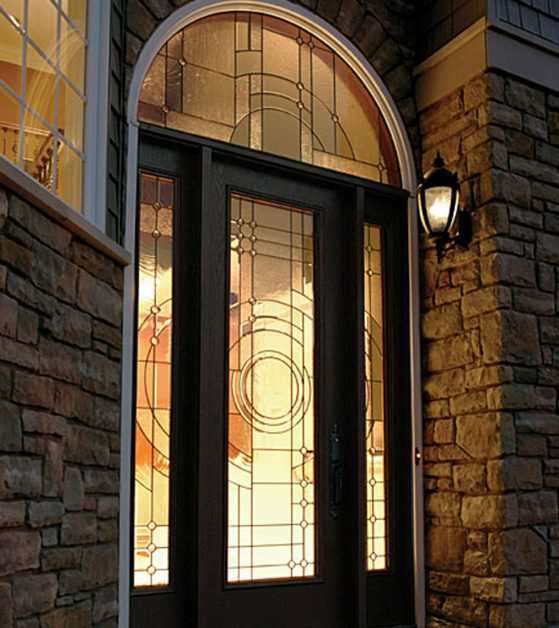 Image Of Lit Up French Door For Home