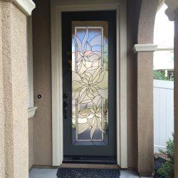 Impressions, floral glass door design - Your Door Our Glass