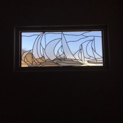 Boat design in a decorative glass window - Your Door Our Glass