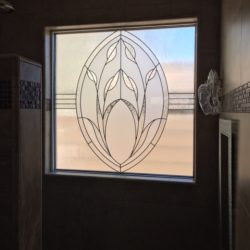 Modern design for a decorative glass window - Your Door Our Glass
