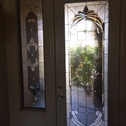Decorative glass door with sidelight - Your Door Our Glass