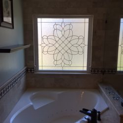 Glass window design in a bathroom - Your Door Our Glass