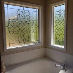 Two glass door designs in a bathroom - Your Door Our Glass