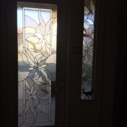 Curvy pattern in a decorative glass door - Your Door Our Glass