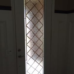 Tall sidelight in a decorative glass door - Your Door Our Glass