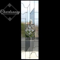 Professional shot of Chardonnay glass door