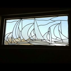 Custom boat design in a glass window - Your Door Our Glass