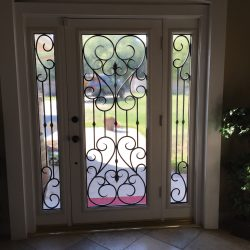 Glass door design with iron and two sidelights - Your Door Our Glass