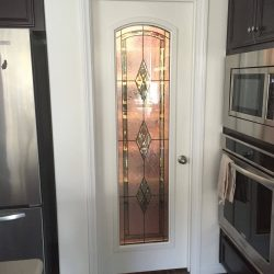 Tall decorative stained glass door design - Your Door Our Glass