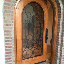 Glass door design with iron - Your Door Our Glass