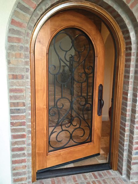 Glass door design with iron - Your Door Our Glass