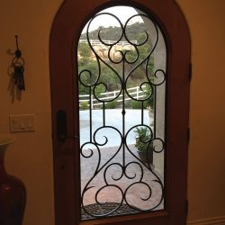 Decorative glass door with iron - Your Door Our Glass