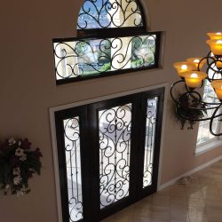 Classic iron and glass doors with transoms - Your Door Our Glass