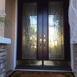 Exterior entrance of Dorchester glass door