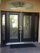 Image of double door Dorchester glass