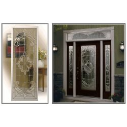 Images of decorative glass doors with transoms and frosted glass - Your Door Our Glass