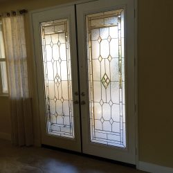 Interior double door with Hampton glass