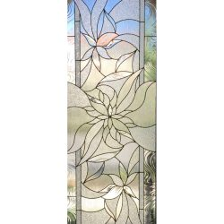Colorful, floral pattern in a glass door design - Your Door Our Glass