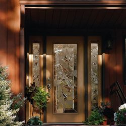 Stylish curb appeal with decorative glass doors - Your Door Our Glass