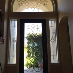 Full glass door design with side and top transoms - Your Door Our Glass