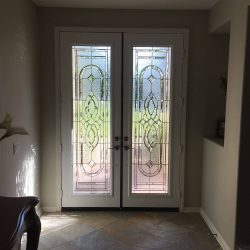 Two doors with matching decorative glass doors - Your Door Our Glass
