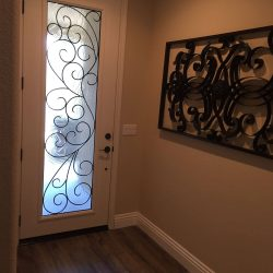 Angled entrance with Rio glass door