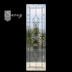 Professional shot of Savoy door glass