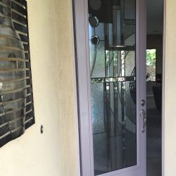 A decorative glass door letting the light in - Your Door Our Glass