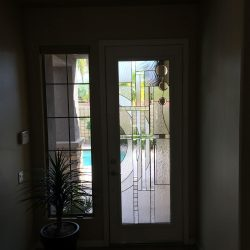 A glass door design and a transom - Your Door Our Glass