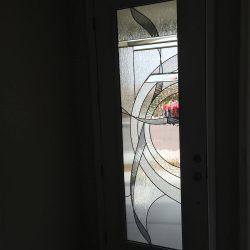 A single door with a beautiful glass door design - Your Door Our Glass