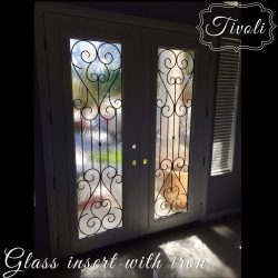 Tivoli glass double door interior entrance