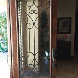 Close up of open Tivoli glass door