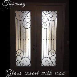 Professional shot of Tuscany glass door