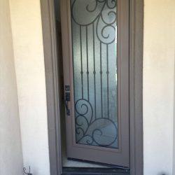 Slightly cracked Tuscany glass door