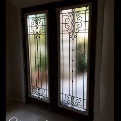Angled Veranda double door entrance