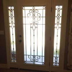 Large Veranda glass door with white trim