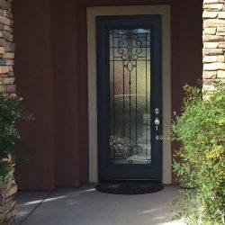 Distance exterior shot of Veranda glass door
