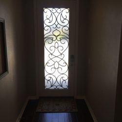Door mat and interior Vistain glass door