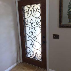 Angled shot of Vistain glass door