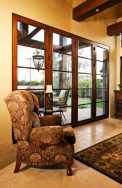 Image Of Fancy Chair In Front Of Custom Glass Door