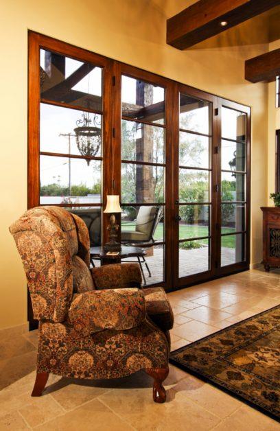 Image Of Fancy Chair In Front Of Custom Glass Door
