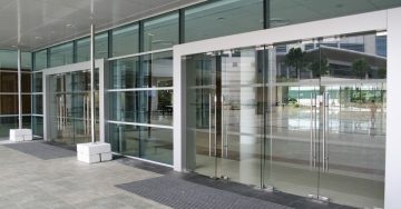 Image of Glass Door Business Entrance