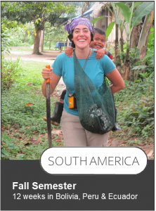 Click here to view the itinerary of the Fall Semester programs, 12 weeks in Bolivia, Peru, and Ecuador