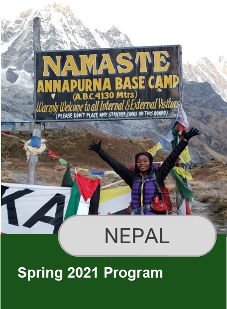 Click here for information on Spring 2021 Nepal program