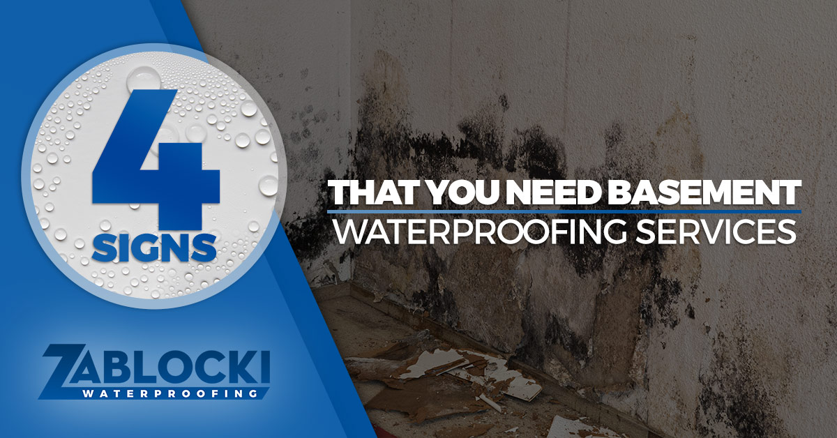 Four Signs That You Need Basement Waterproofing Services